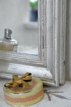Fransk spegel, silver 40 * 30 cm