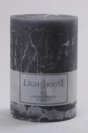 Cylinderljus Rustic Grey 100x150 mm