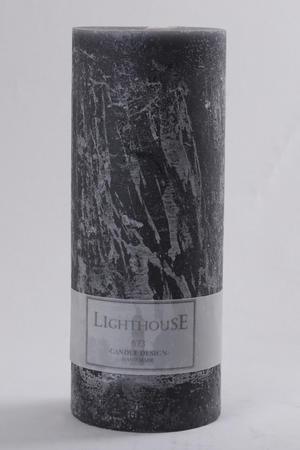 Cylinderljus Rustic Grey 100x250 mm