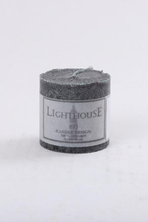 Cylinderljus Stearin Black 50x50 mm
