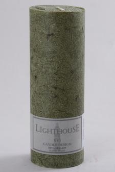 Cylinderljus Stearin Dark Green 70x200 mm