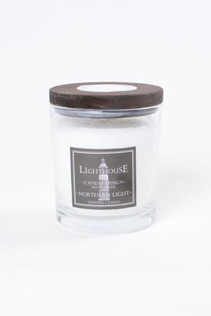 Doftljus i Glas med lock White/Northern Light 77x80 mm