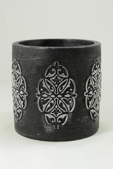 Cylinderljus Hollow baroque Black1 150x150 mm
