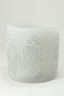 Cylinderljus Hollow baroque Light Grey 150x150 mm