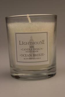 Doftljus i Glas White/Ocean Breeze 68x79 mm