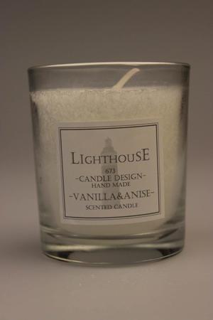 Doftljus i Glas White/Vanilla Anise 68x79 mm