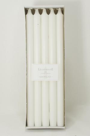 Kronljus White 23x350 mm 10-p