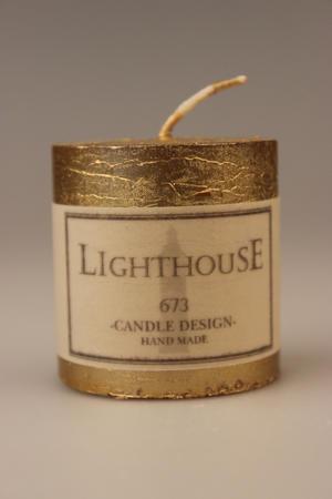 Cylinderljus Rustic Gold 50x50 mm