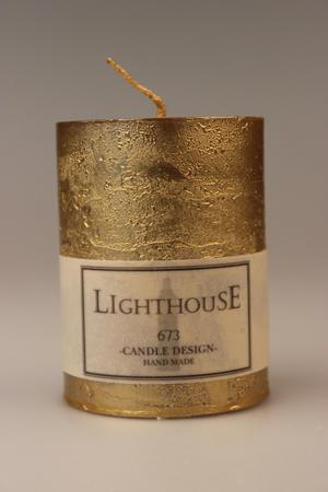 Cylinderljus Rustic Gold 60x80 mm