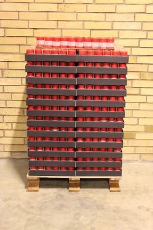 Display Cylinderljus Rustic Red 60x80 mm
