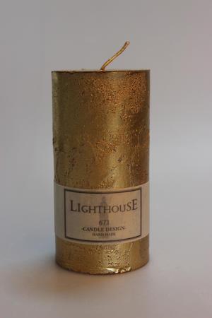 Cylinderljus Rustic Gold 60x120 mm
