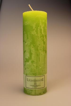 Cylinderljus Rustic Green Lemon 60x200 mm
