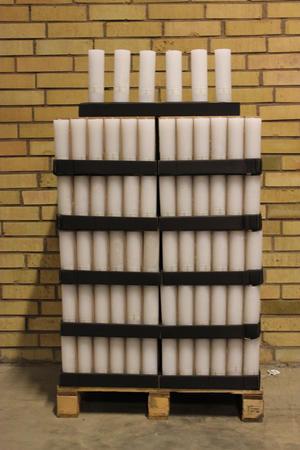 Display Cylinderljus Rustic White 60x200 mm