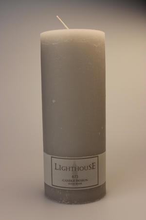 Cylinderljus Rustic Light Grey 100x250 mm