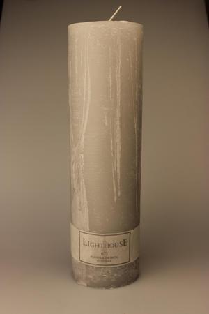 Cylinderljus Rustic Light Grey 100x350 mm