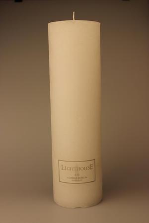 Cylinderljus Rustic White 100x350 mm