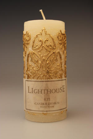 Cylinderljus Baroque Gold 70x150 mm