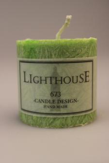 Cylinderljus Stearin Green 50x50 mm