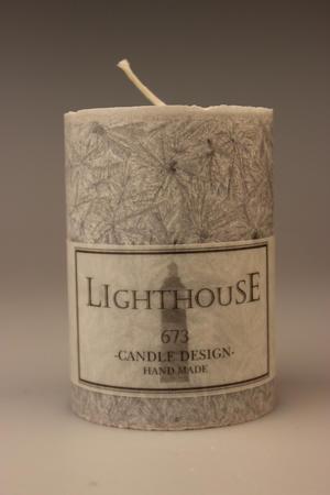 Cylinderljus Stearin Light Grey 70x100 mm
