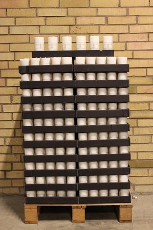 Display Cylinderljus Stearin White 70x100 mm