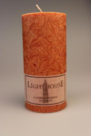 Cylinderljus Stearin Terracotta 70x150 mm