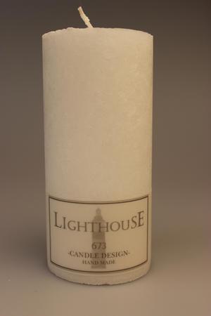 Cylinderljus Stearin White 70x150 mm
