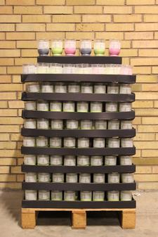 Display Garden Bordslykta Inne/Ute Grey, Green Lemon och Fuchsia 90x120 mm