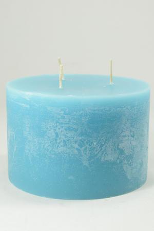 Cylinderljus Rustic Blue 3 wicks 150x100 mm