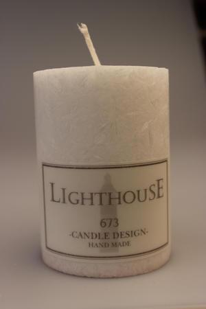 Doftljus cylinderljus stearin White/Vanilla Anise 70x100 mm