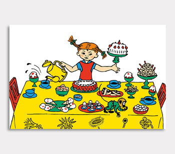 Pippi Longstocking on a cake party