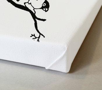 Fåglar på gren Tavla