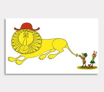 Tavla, – Hjälp sa Lena om lejonet.