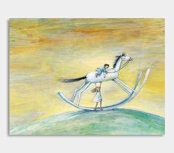 Rocking horse - canvas painting