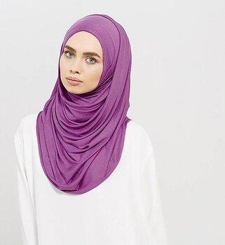 Maxi Jersey hijab lila