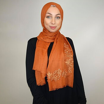 Viscose hijab with flowers
