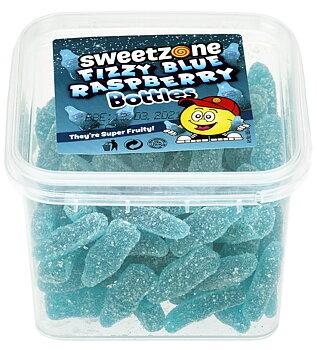 Sweetzone HALAL Fizzy Blue Rasberrys i plastbox 180g