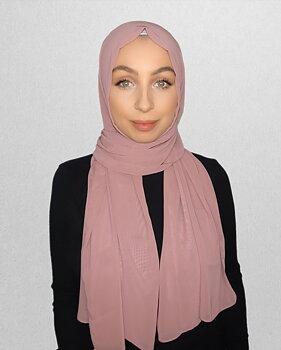 Crepe Chiffon hijab perfect pink