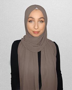 Crepe Chiffon hijab mink