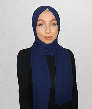 Crepe Chiffon hijab navy