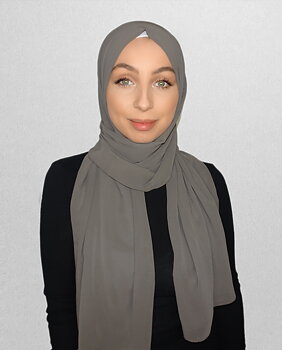 Crepe Chiffon hijab taupe