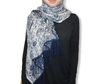 Mönstrad pashmina hijab