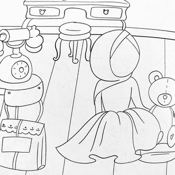Coloring book Little Muslims A5