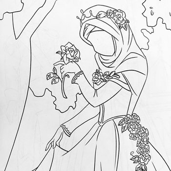 Coloring book Muslim Princess A5