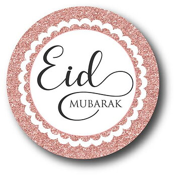 Eid Mubarak Klistermärken rosé 12-pack