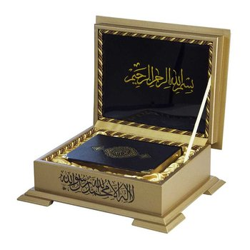 Quran box wooden with gold details