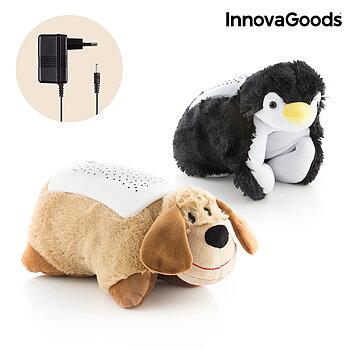Kramdjur med projektor InnovaGoods Husdjur Pingvin