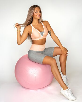 Peach Swirl Bicycle Shorts