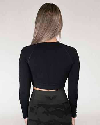 GAVELO Seamless Crop top black