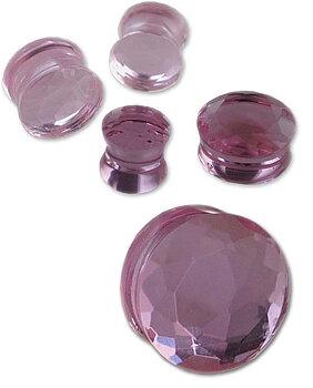 Plugg Piercing Cubic Zirconia Diamant Rosa