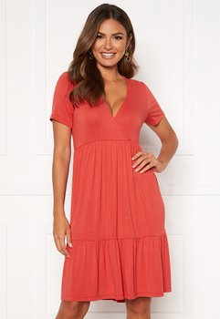 PENELOPE DRESS - DARK CORAL